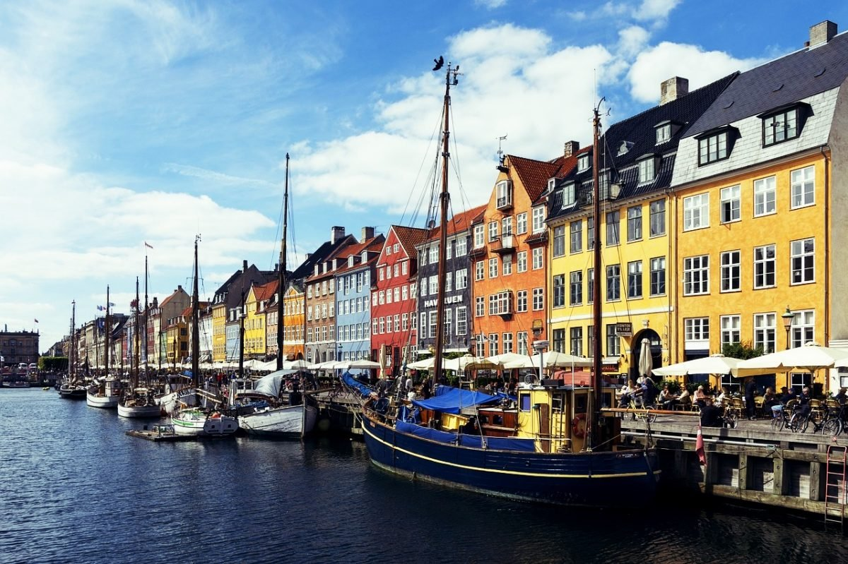 Typical Copenhagen city scene