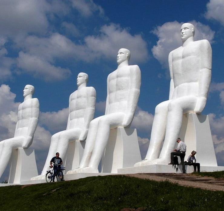 The famous white men of Esbjerg, Denmark