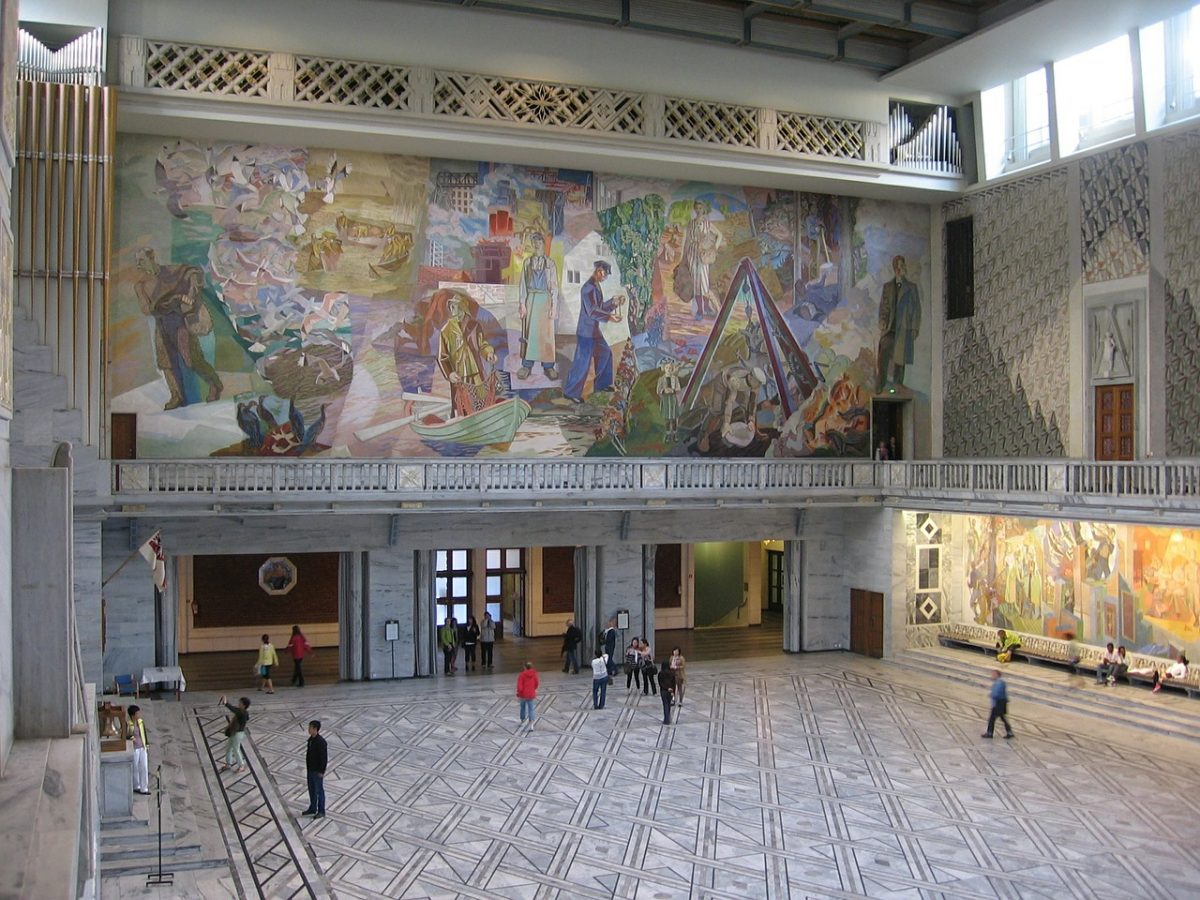 Inside Oslo City Hall