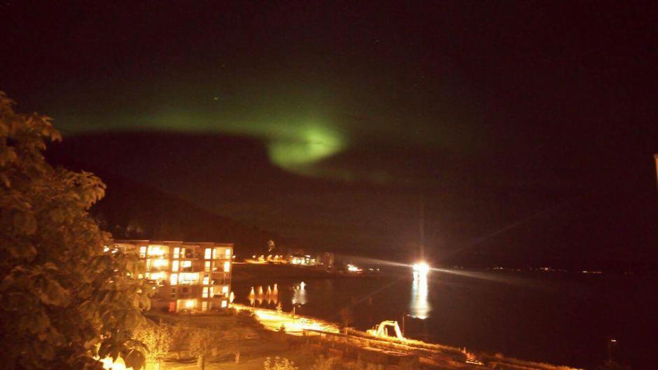 Northern lights in Trondheim