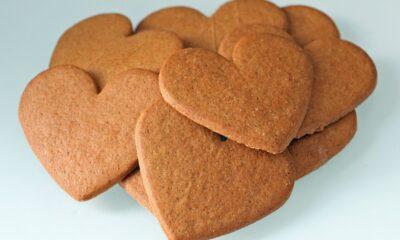 Norwegian gingerbread pepperkaker cookies