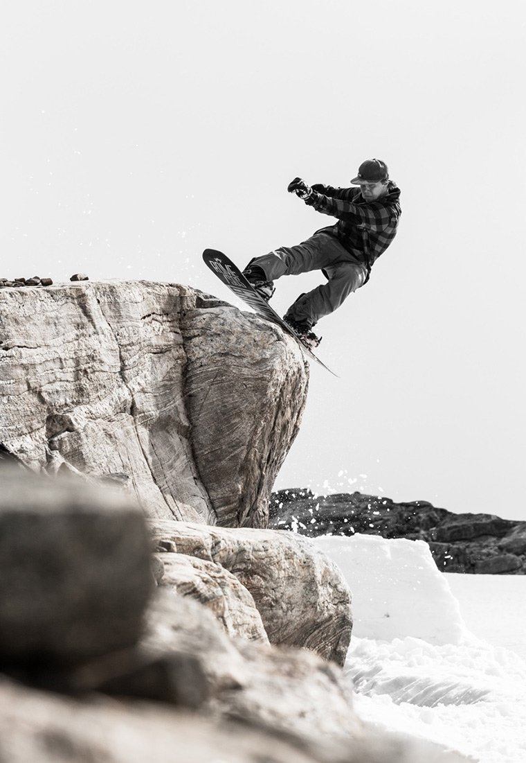Snowboarding at Folgefonna