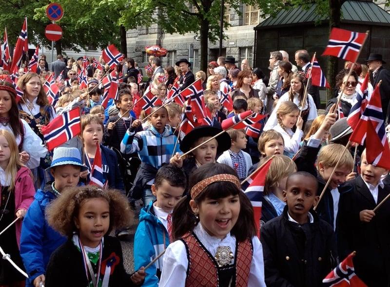 Children on 17 May