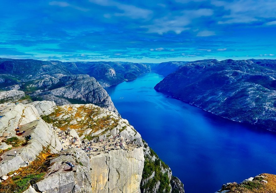 Lysefjord and Pulpit Rock in Norway