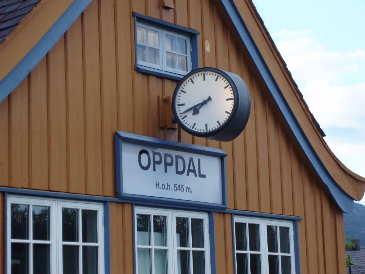 Oppdal railway station