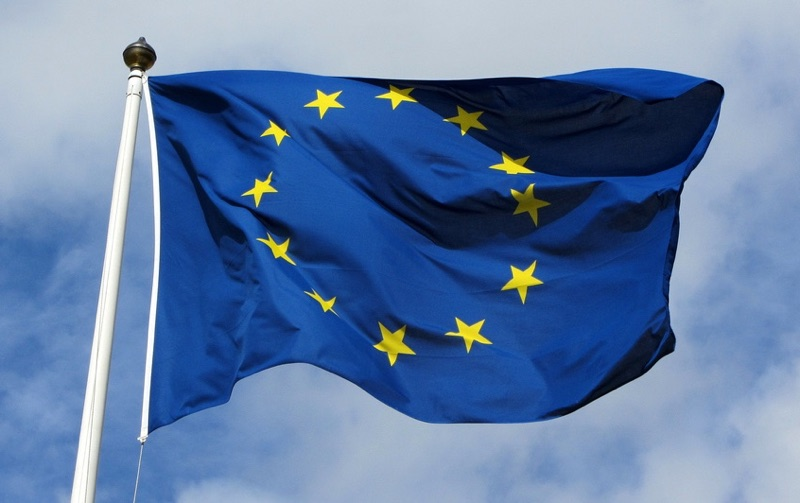 The flag of the EU