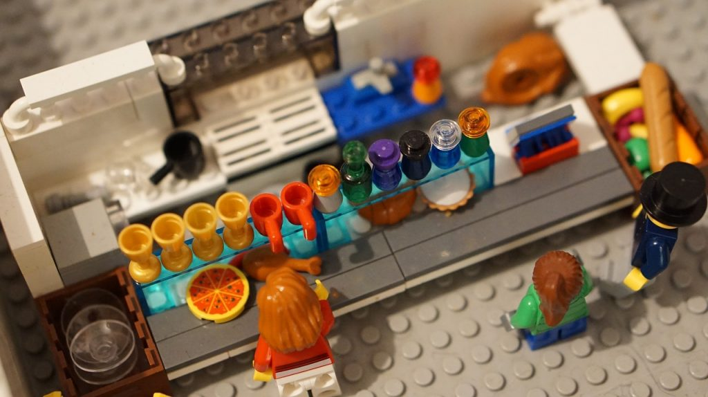 Danish LEGO kitchen