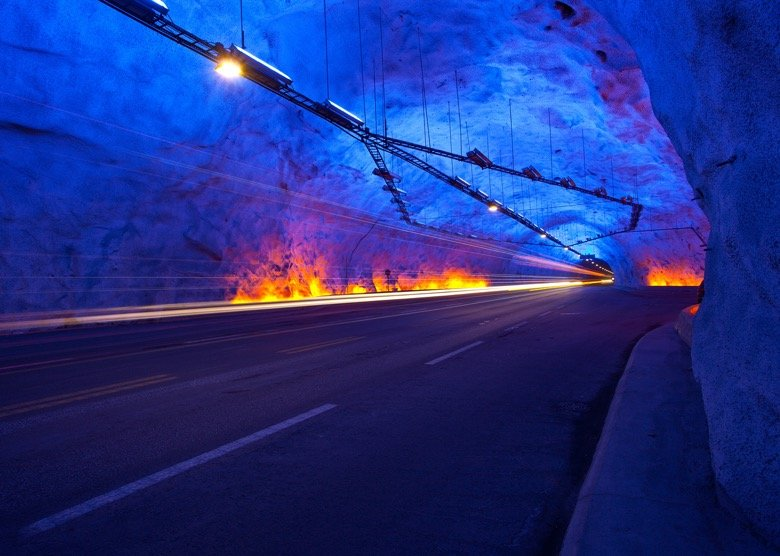 Inside the Lærdal tunnel in Norway: The world's longest underground road tunnel