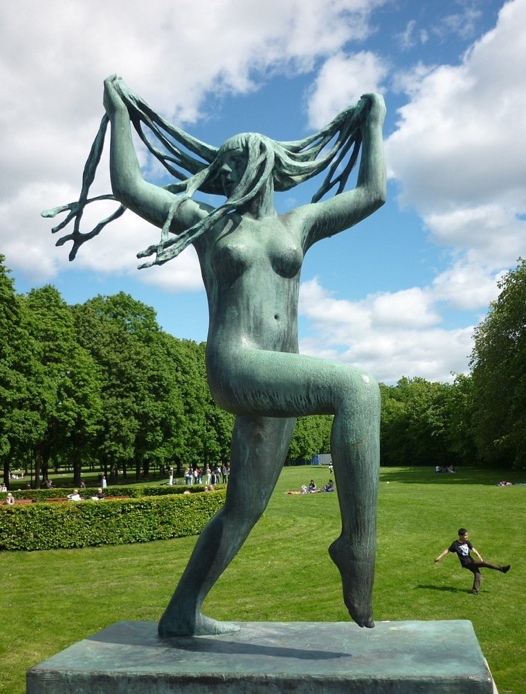A sculpture in Vigeland Park, Oslo