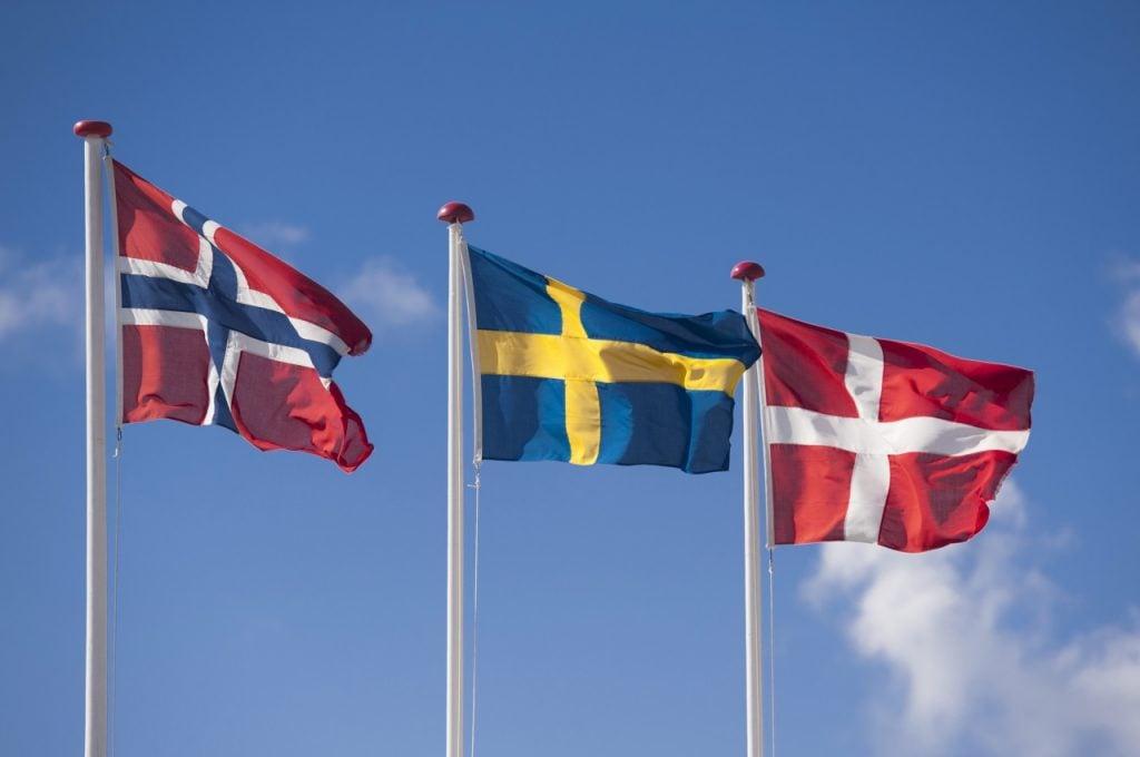 The Scandinavian flags