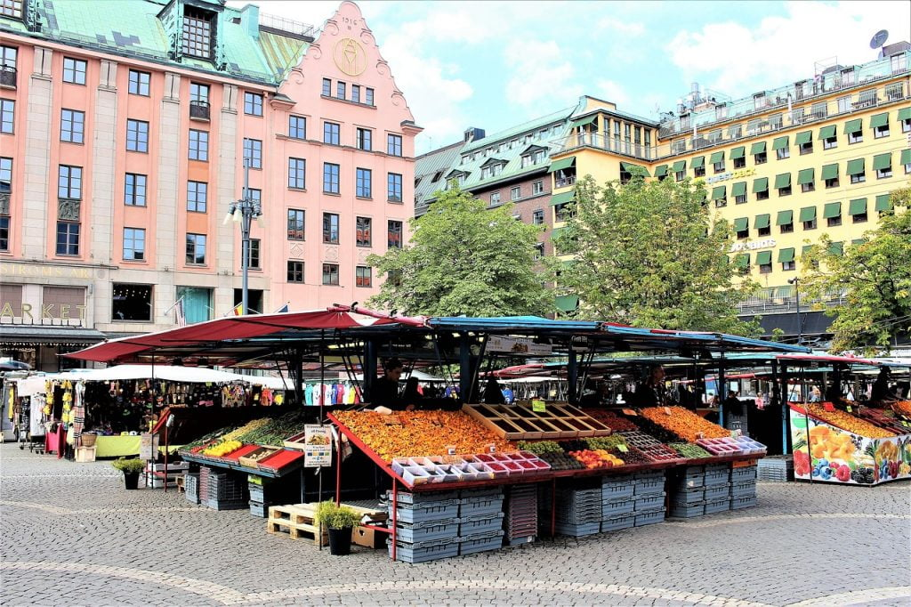 Open market in the Swedish capital