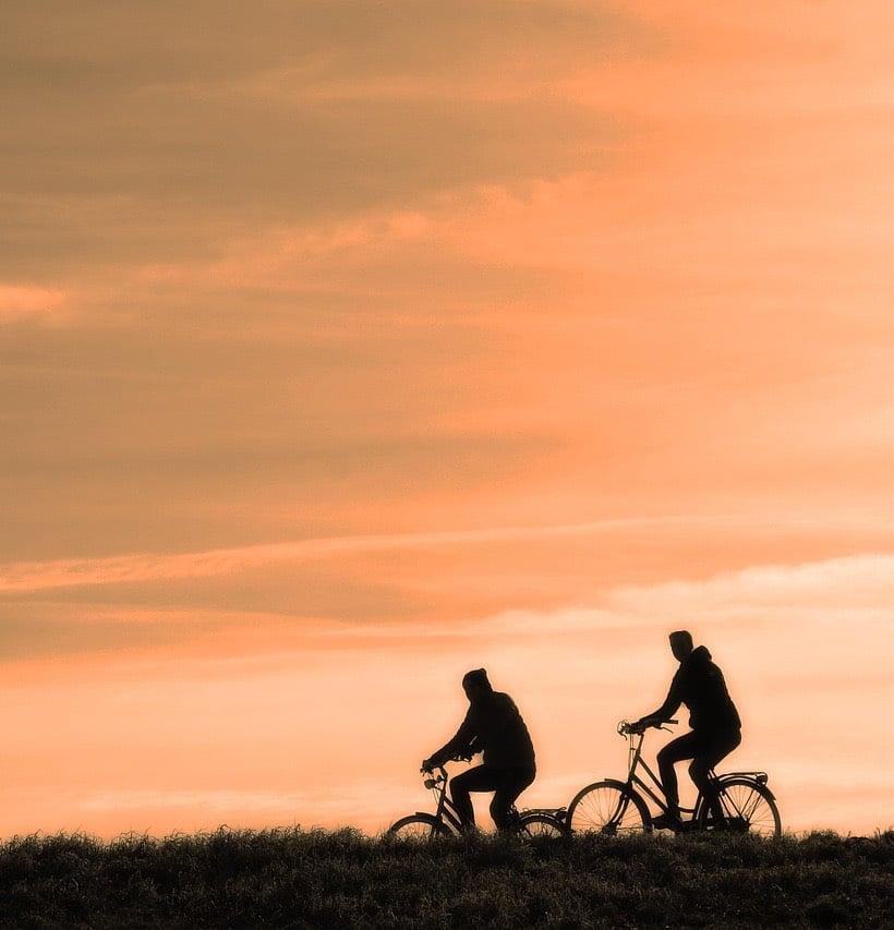 Cycling at midnight