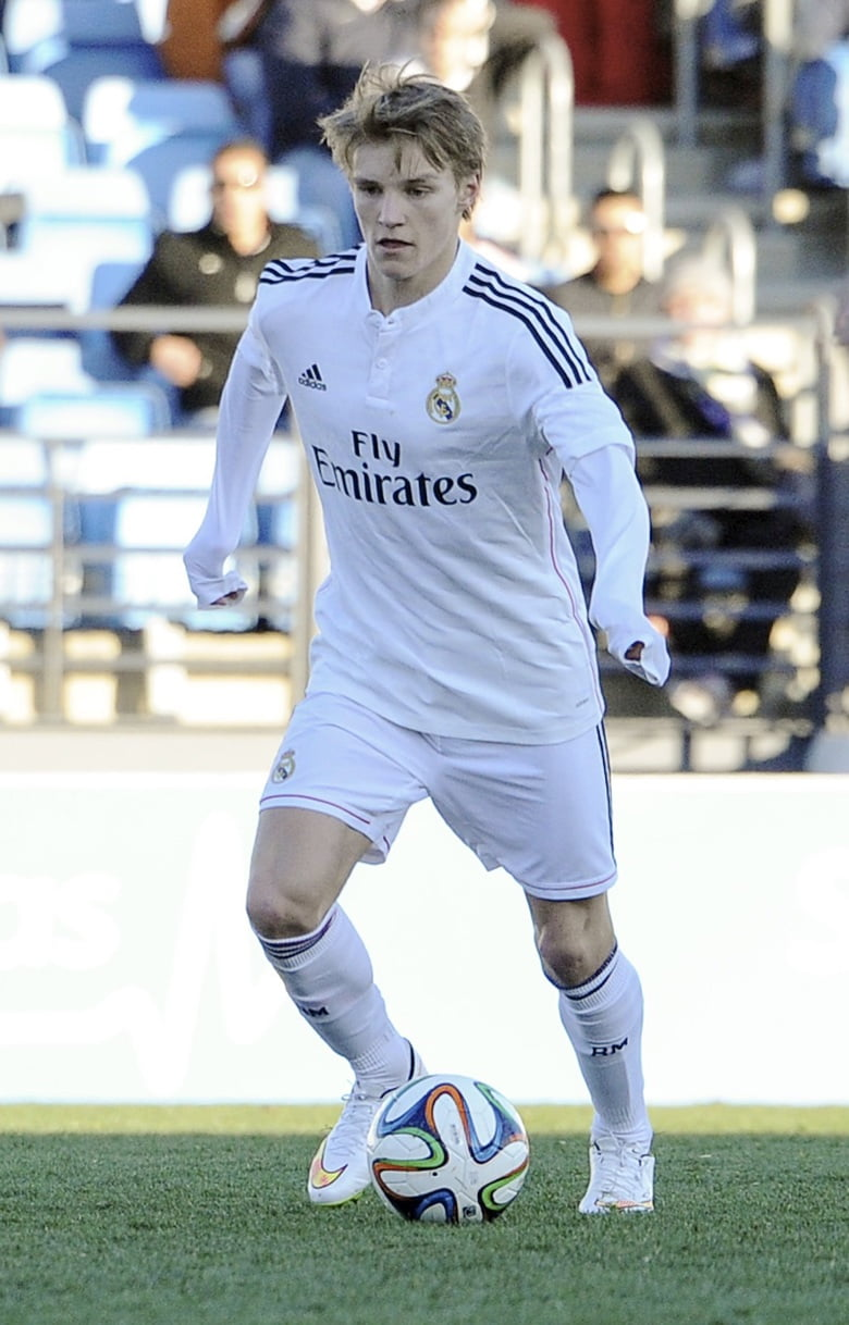 Martin Ødegaard playing for Real Madrid Castilla
