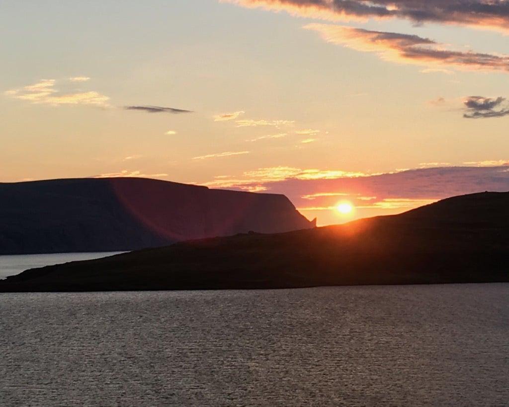 The sunset near Nordkapp