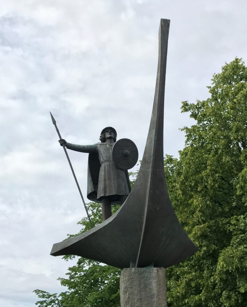Viking ship sculpture in Ila