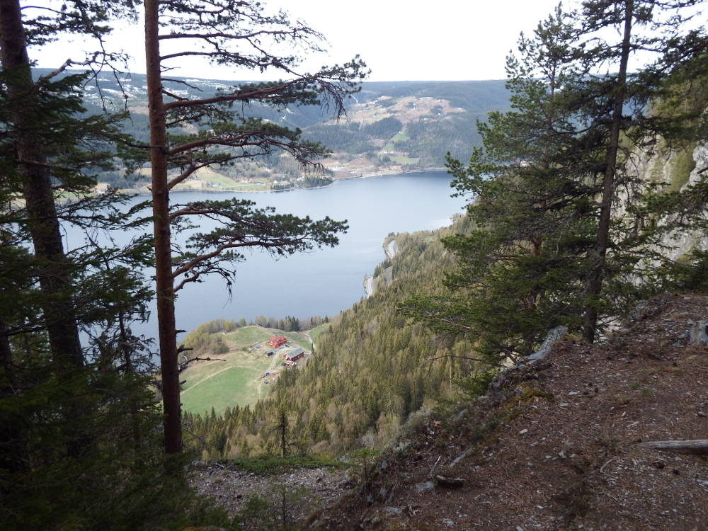 View down to Strondafjorden from Kviteberget.