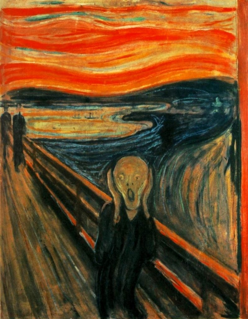The famous painting The Scream by Norwegian artist Edvard Munch