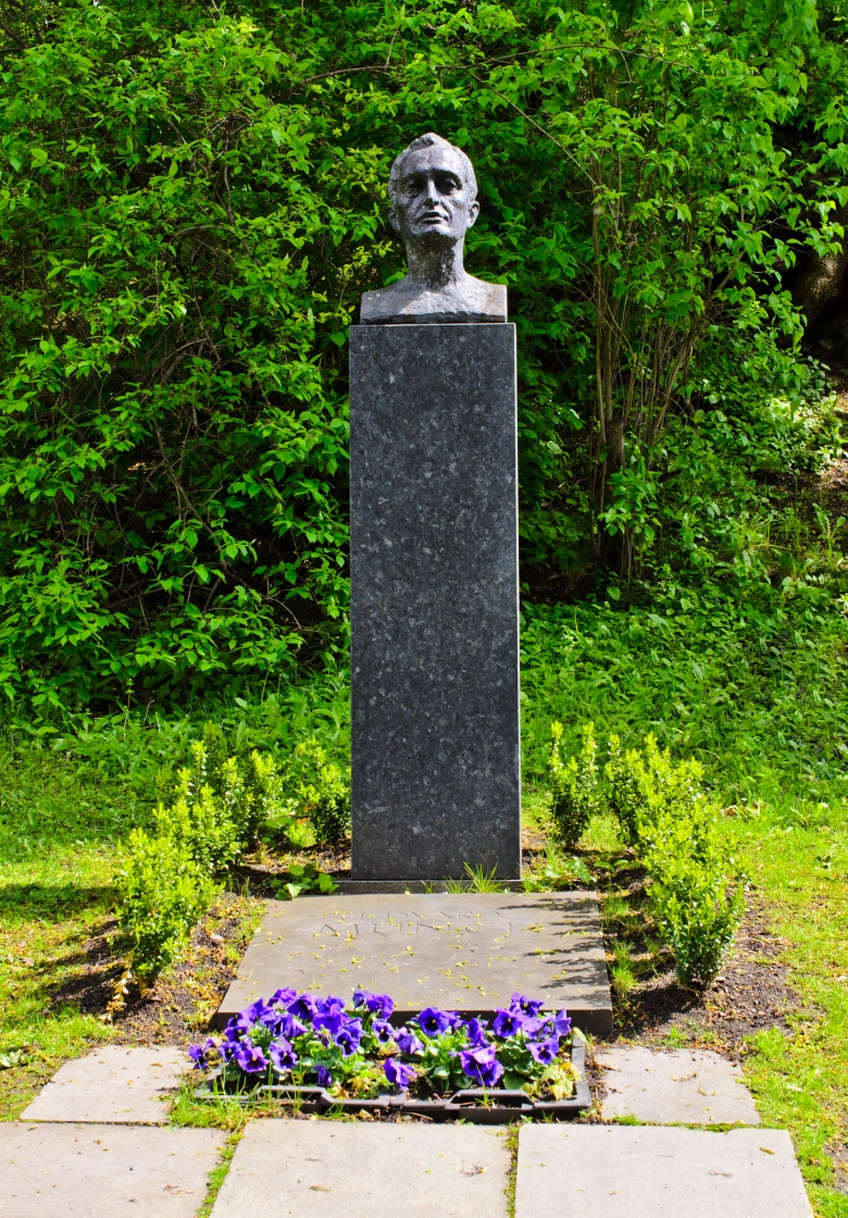 The grave of Edward Munch in Oslo, Norway