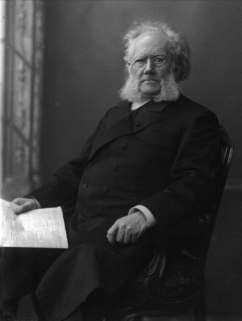 A portrait of the famous Norwegian playwright and poet Henrik Ibsen