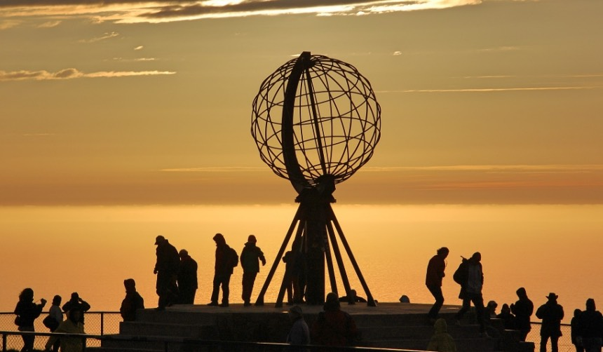 North Cape globe sculpture