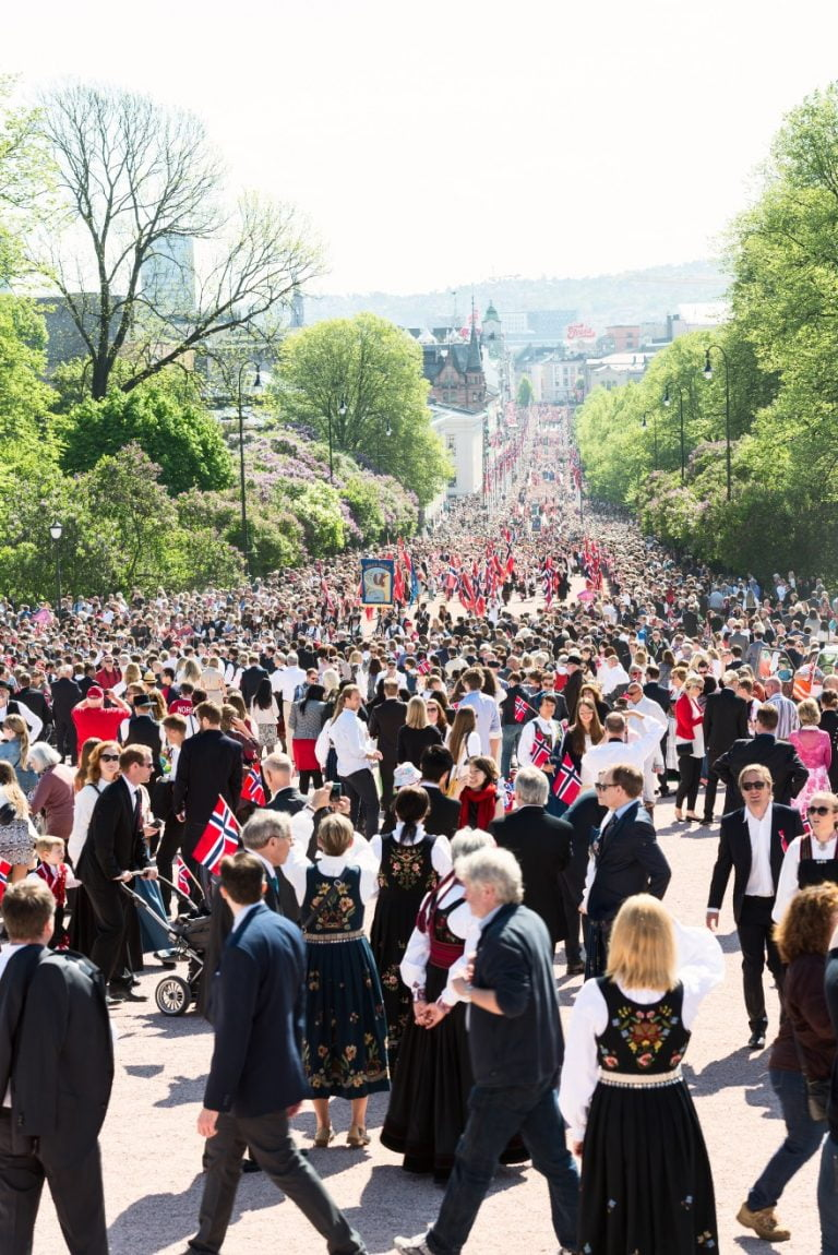 Norway's National Day parade in the capital city Oslo