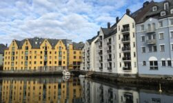 Charming waterfront in Ålesund, Norway