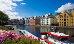 Alesund Norway city centre