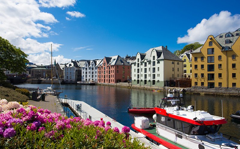 Alesund Norway city centre