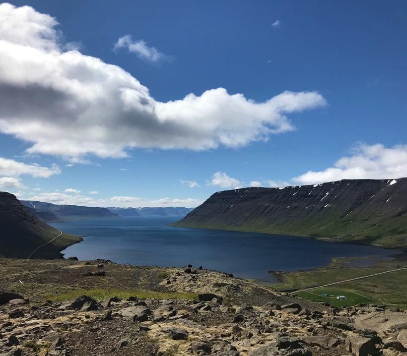 Iceland's Arnarfjörður from above