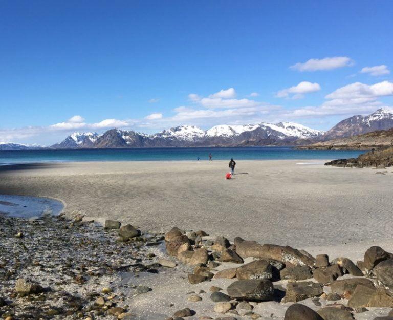 A beautiful beach in Lofoten, Norway
