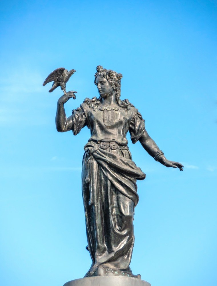 Statue of the Norse Goddess Freya in Stockholm, Sweden.