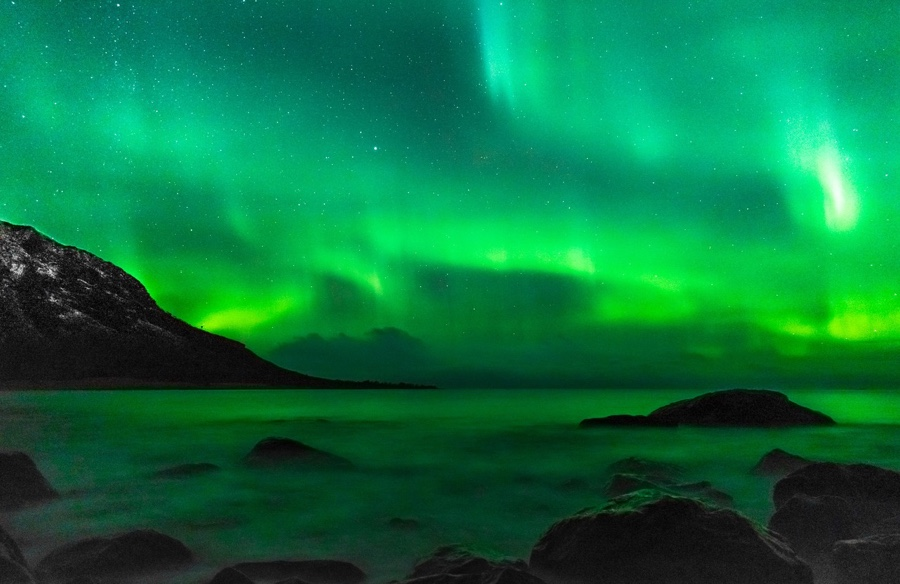 The northern lights in Northern Norway