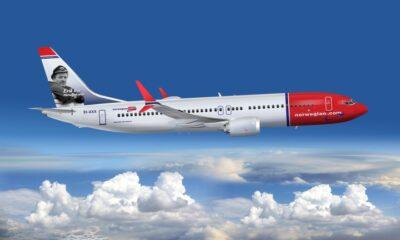 Norwegian Max airplane flying to Norway