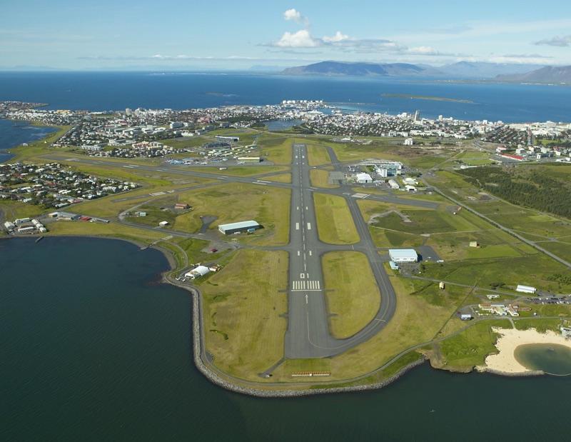 Reykjavik city airport runway