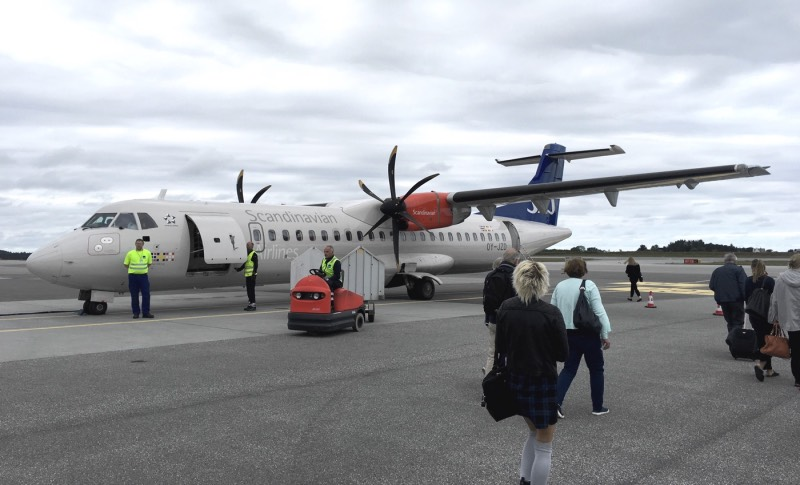 SAS shuttle at Ålesund Airport