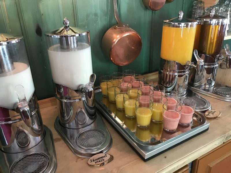 Smoothies at breakfast