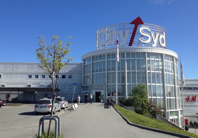 Entrance to City Syd mall in Tiller, Trondheim