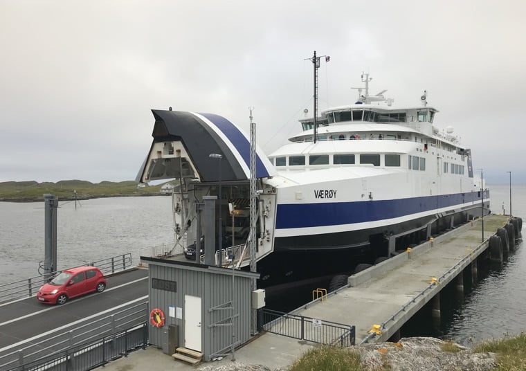 Car ferry arriving from Bodø