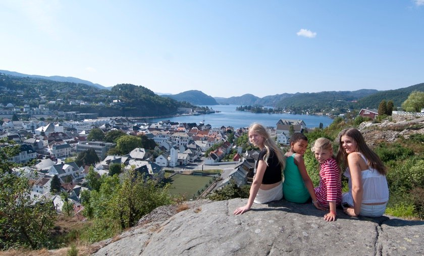View over Flekkefjord. Photo: Peder Austrud / Visit Sørlandet