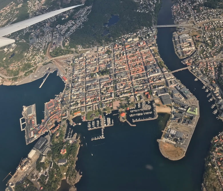 Kristiansand from the skies
