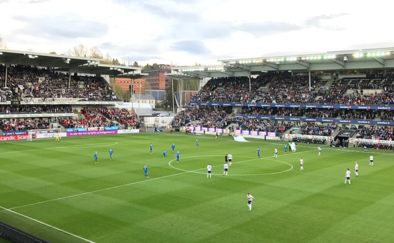 Match at Rosenborg's Lerkendal Stadium in Trondheim