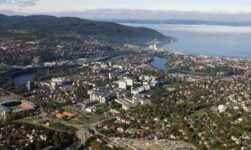 The NTNU campus dominates Trondheim