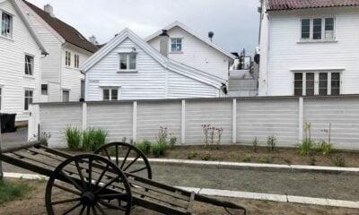 Outside Flekkefjord Museum
