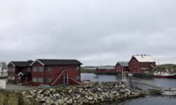 The waterside setting of Røst Bryggehotell