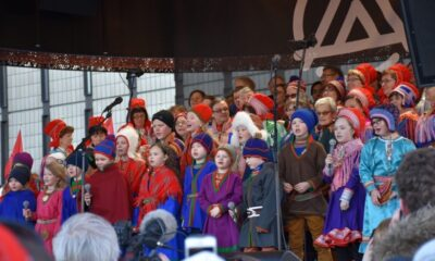 Sami children singing at the National Day celebrations
