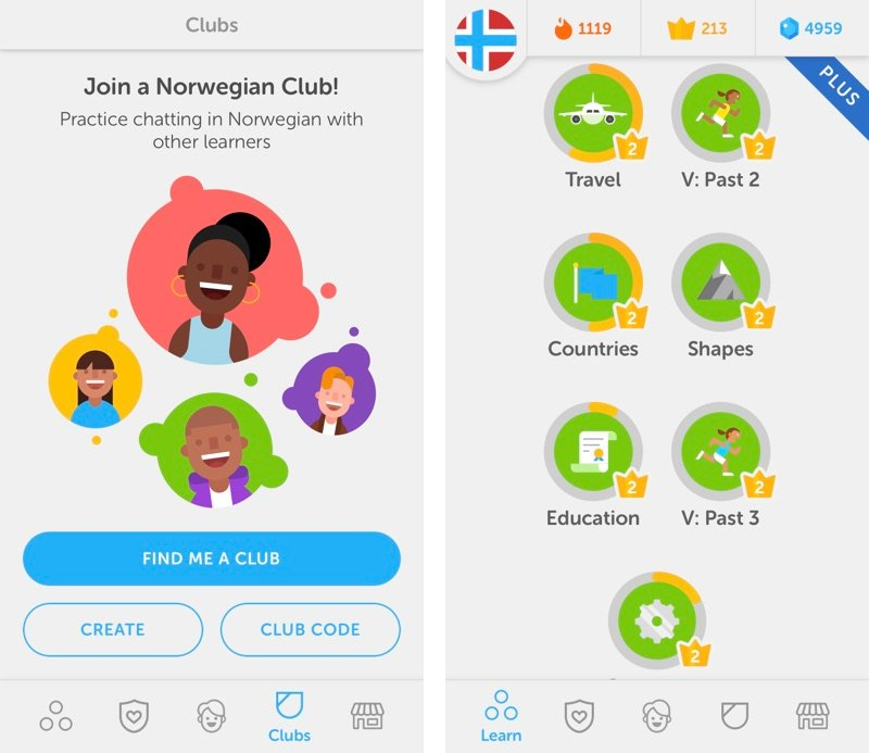Learning Norwegian with Duolingo app
