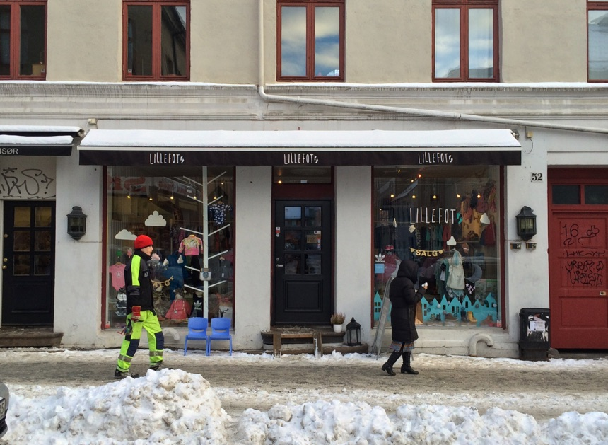 Shop front in Grünerløkka, Oslo