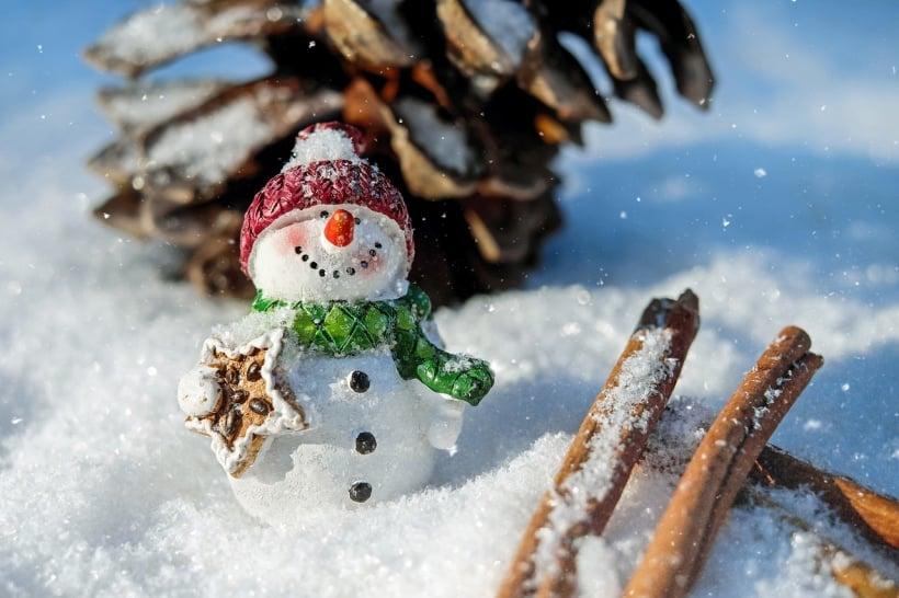 Snowman Christmas scene