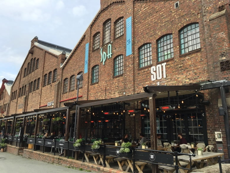 Some of the restaurants at Solsiden, Trondheim