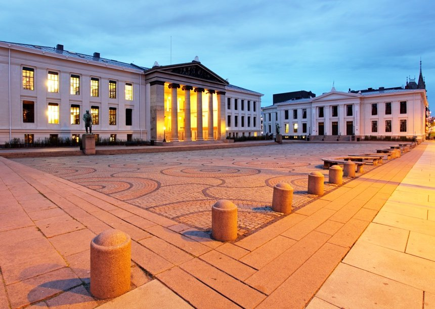 University Square in Oslo, Norway